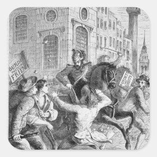 Alboroto de Burdett, 1810 Pegatina Cuadrada