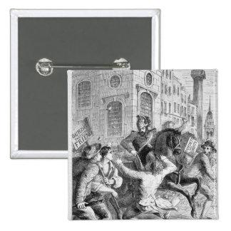 Alboroto de Burdett, 1810 Pin Cuadrado