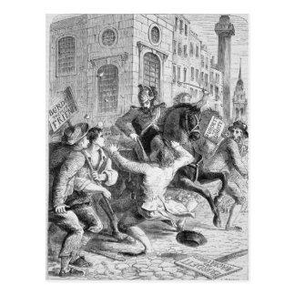 Alboroto de Burdett, 1810 Tarjeta Postal