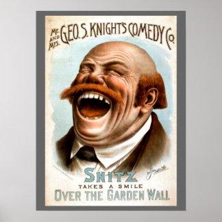 Alboroto de la risa impresiones
