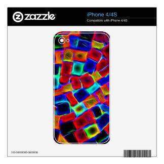 alboroto del color calcomanías para el iPhone 4