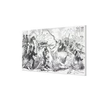 Alboroto del diagrama del enchufe en Preston Lienzo Envuelto Para Galerias