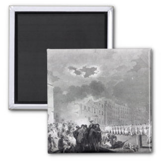 Alboroto en calle amplia junio de 1780 imán para frigorífico