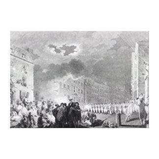 Alboroto en calle amplia, junio de 1780 lona envuelta para galerías