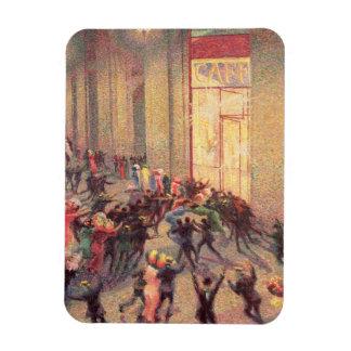 Alboroto en el Galleria 1909 aceite en lona Iman Flexible