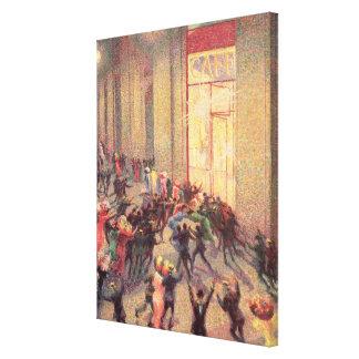 Alboroto en el Galleria, 1909 (aceite en lona) Impresión De Lienzo