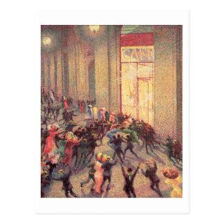 Alboroto en el Galleria, 1909 (aceite en lona) Postales