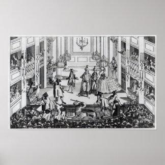Alboroto en el teatro del jardín de Covent en 1763 Impresiones