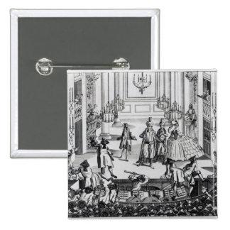 Alboroto en el teatro del jardín de Covent en 1763 Pin Cuadrado