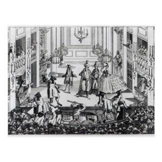 Alboroto en el teatro del jardín de Covent en 1763 Postales