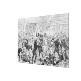 Alborotos irlandeses del autogobierno en Glasgow,  Impresión En Lienzo
