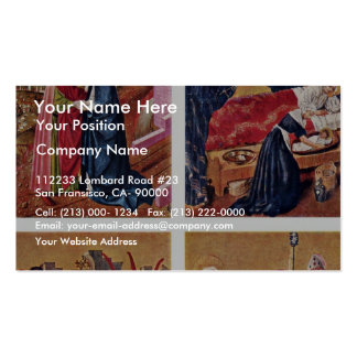 Albrecht Altar Inside The Left Rotary Wing: 4 Pane Double-Sided Standard Business Cards (Pack Of 100)