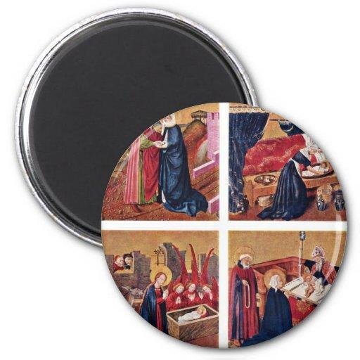Albrecht Altar Inside The Left Rotary Wing: 4 Pane Magnet
