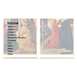 Albrecht Altar Right Rotary Wing Interior: 4 Panel Double-Sided Standard Business Cards (Pack Of 100)