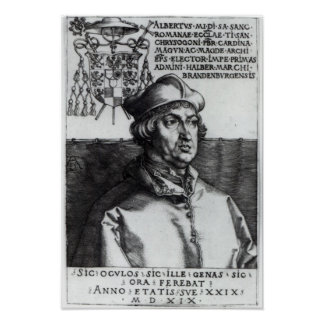 Albrecht de Brandeburgo, 1519 Póster