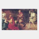 Albrecht Durer - Adoration of the Magi Rectangular Sticker