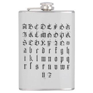 Albrecht Durer Alphabet Hip Flask