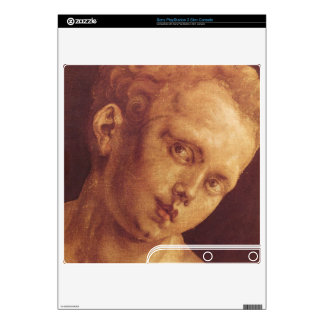 Albrecht Durer - Boys head tilted to the right Decals For PS3 Slim
