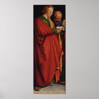 Albrecht Durer el panel izquierdo de cuatro apósto Posters