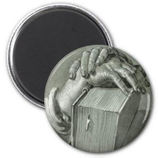 Albrecht Dürer Hand Study with Bible 2 Inch Round Magnet