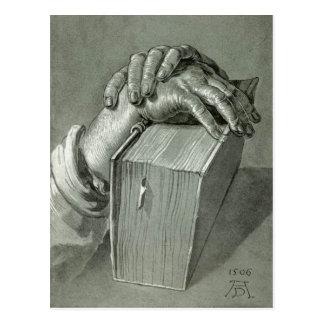 Albrecht Dürer Hand Study with Bible Post Card
