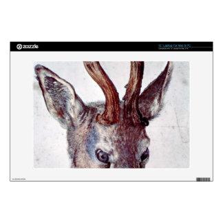 """Albrecht Durer - Head of a deer 13"""" Laptop Skin"""