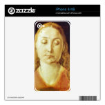 Albrecht Durer - Head of Mary Decal For The iPhone 4