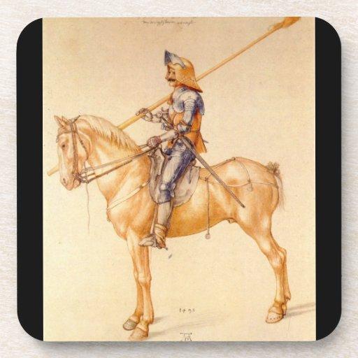 Albrecht Durer - jinete en la armadura Posavasos De Bebidas