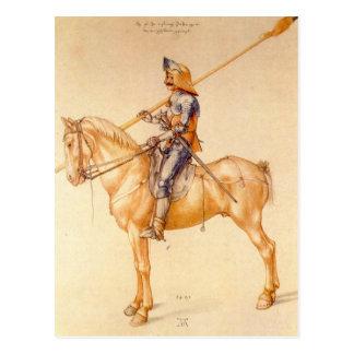 Albrecht Durer - jinete en la armadura Tarjeta Postal
