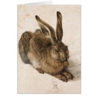 Albrecht Dürer - Junger Hase (liebre joven), 1502 Tarjeta Pequeña
