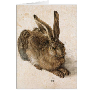 Albrecht Dürer - Junger Hase (Young Hare), 1502 Stationery Note Card