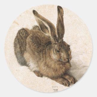 Albrecht Dürer - Junger Hase (Young Hare), 1502 Classic Round Sticker