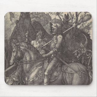 """Albrecht Durer - """"Knight, Death, and the Devil"""" Mouse Pad"""