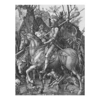 Albrecht Durer Knight Death and the Devil Poster