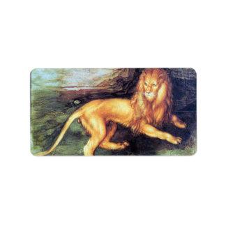 Albrecht Durer - Lion Label