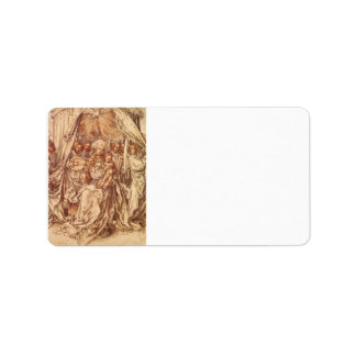 Albrecht Durer - Madonna with angels under a canop Personalized Address Label