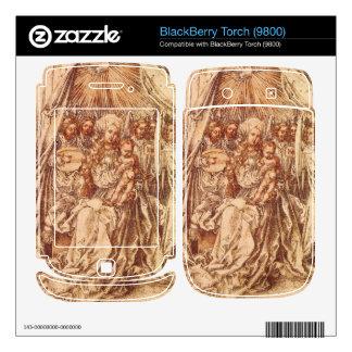 Albrecht Durer - Madonna with angels under a canop Decals For BlackBerry
