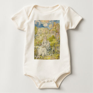 Albrecht Durer - Madonna with the many animals Baby Bodysuit