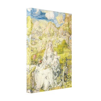 Albrecht Durer - Madonna with the many animals Canvas Print