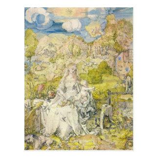 Albrecht Durer - Madonna with the many animals Postcard
