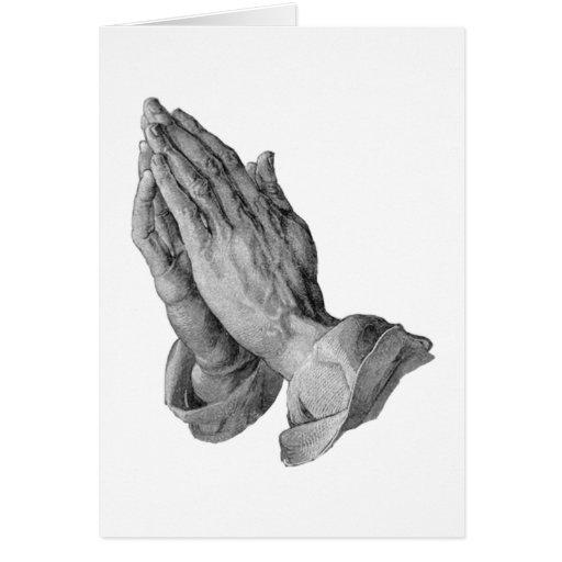 Albrecht Durer - manos que ruegan Tarjeton