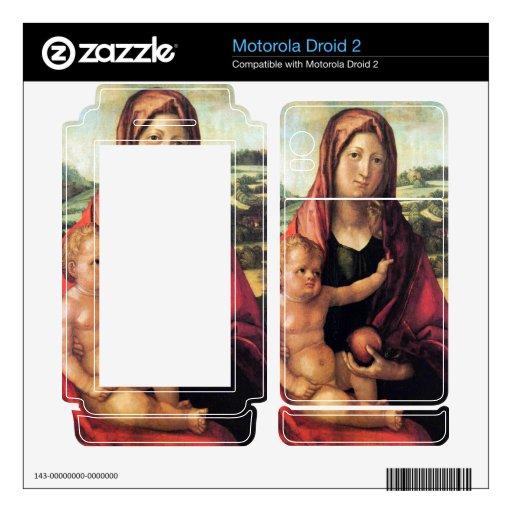 Albrecht Durer - Mary with child against a landsca Motorola Droid 2 Skins