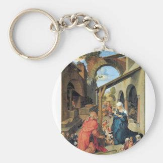 Albrecht Durer - nacimiento de Cristo Llaveros Personalizados