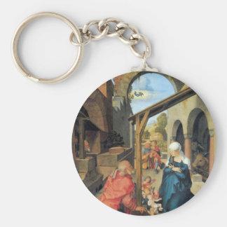 Albrecht Durer - nacimiento de Cristo Llavero Personalizado