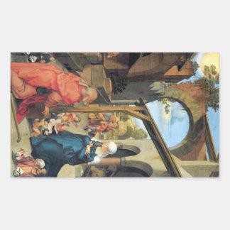 Albrecht Durer - nacimiento de Cristo Pegatina Rectangular
