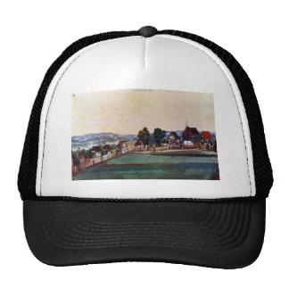 Albrecht Durer - Nuremberg Suburb with a church an Hats