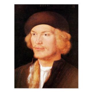 Albrecht Durer - Portrait of a young man 2 Postcards