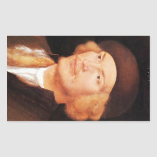 Albrecht Durer - Portrait of a young man 2 Rectangular Sticker