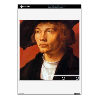 Albrecht Durer - Portrait of a young man 3 Decal For PS3 Slim