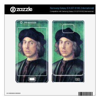 Albrecht Durer - Portrait of a young man against a Samsung Galaxy S II Skins